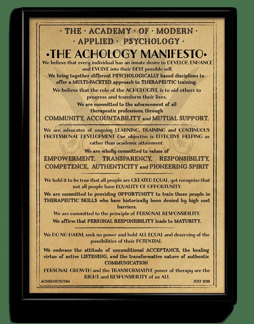 achology-manifesto